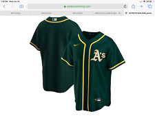 Oakland Athletics A'S Youth Medium  Size 10-12  Alternate Game Jersey.  Green