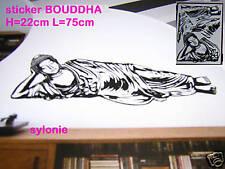 grand sticker mural ZEN BOUDDHA 75cm/22cm modele N°2