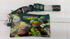 TEENAGE MUTANT NINJA TURTLES ZIPPED WALLET WITH  LANYARD IPONE MONEY GREEN COLOR