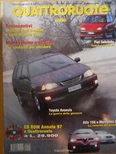 Quattroruote 508 1998 Alfa 156 e Mercedes C - Toyota Avensis      [Q48]