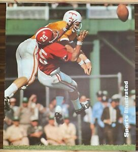 Vintage 1960s Sports Illustrated Alabama Tennessee College Football Poster 20x23