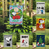 Decor Busy Work Snoopy Signs Double Sided Print Banner/Flag Outdoor Garden Flags