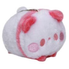 Panda Plushie Japan Super Soft Stuffed Animal Toy Keychain White Dark Pink