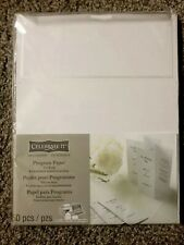 Celebrate It Tri-Fold Wedding Program Papers  White Border 50-Count