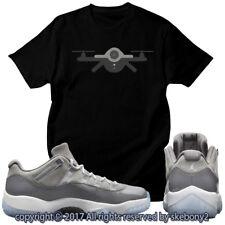 NEW CUSTOM T SHIRT Cool Grey Air Jordan 11 Lows Drop This Month JD 11-4-9