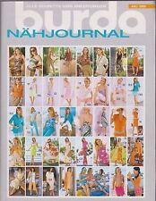 BURDA nähjournal de cahier 7/2005 Avec Instructions & Motifs De Coupe