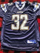 Reebok NFL Eric Weddle Jersey San Diego Chargers #32 Navy Blue Large Autograph