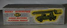 DINKY TOYS 667 MISSILE SERVICING PLATFORM VEHICLE, MINT! IN VERY GOOD BOX