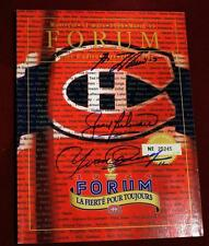 Montreal Forum Last Game Program Signed by Canadiens Beliveau Cournoyer Lafleur!
