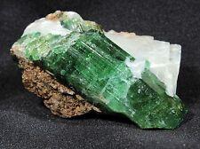 Vibrant Green Uvite Tourmaline Crystal in Matrix from Nadonjukin, Tanzania