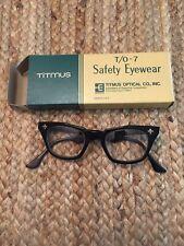 Vintage Titmus Z87 Safety Glasses Clear Lens Black Frame