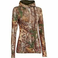 Under Armour Womens Scent Control Infrared Coldgear EVO Hoodie Large 1247093