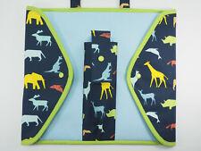 Tasche Mappe Hülle für TipToi oder TING Bücher und Stift Tiere Safari Handarbeit