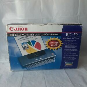 Canon BJC-50 Color Bubble Inkjet Printer No AC Adapter w/ Box and Manuals Works