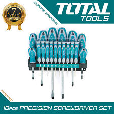 18PCS MAGNETIC SCREWDRIVER Precision Set with Soft Grip - Total Tools
