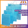 Light Blue Twisted Handle Paper Bags! | Carrier/Kraft/Strong/Gift/Fashion/Shop