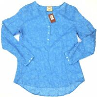 RM WILLIAMS Womens Semi Fitted Blue Paisley Duri Shirt Size 12 NEW With Tags