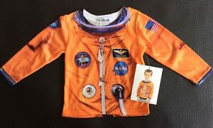 Astronaut L/S Tee Shirt Size 2T screened realistic image 100% poly