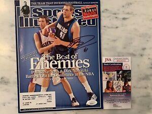 Dirk Nowitzki Mavericks Signed Sports Illustrated Cover JSA COA