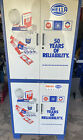 Vintage AC Delco Dealer Parts & Tools Metal Storage Cabinet Unit (2pc)