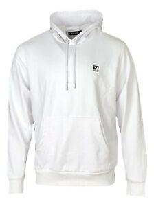 Diesel Men's Hoodie Logo Sweater Pullover Long Sleeve - Regular Fit - White