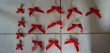 Christmas Butterfly Ribbon Bow Party Xmas Gift Wrap Ribbons 14pcs