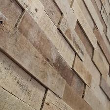 3D Holzriemchen Natur 15x57 cm Verblender Wandverkleidung Holzpaneele Holz Wand