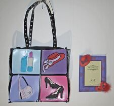 RED HAT SOCIETY BRACIANO PURSE TOTE & FREE PHOTO FRAME - RED & PURPLE - NWT $75