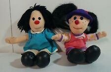 """Vintage Big Comfy Couch Molly 8"""" & Loonette the Clown 9"""" 1997 Rare Beanie Dolls"""