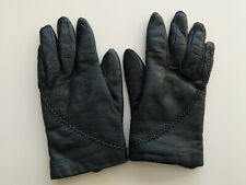 Guder Black Gloves Rabbit Fur Lining Genuine Leather Made in Italy size 7