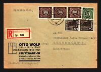 Germany 1947 Registered Cover to Stuttgart - Z14078