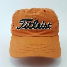 Titleist golf cap adjustable strapback orange excellent condition baseball hat