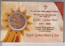 Wailing Wall IGCMC Loyal Subscribers 2007 Gold Subscriber 38mm Bronze