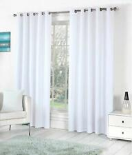 New Polyester 2 Piece Door Curtain Set - White, 4 x 7 ft