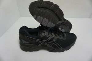 Asics men's gel kayano 23 black onyx carbon running shoes size 10 us