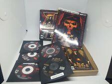 Diablo II 2 Battle Chest Blizzard PC Mac w/ Box Guide 4 Discs CD Keys Expansion