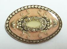CATHERINE POPESCO France Pink Oval Pin Brooch