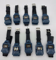Transformers Watch Blue Starscream Fighter Jet LOT OF 10 BULK UNTESTED Vintage