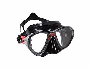 Cressi Sub Big Eyes Evolution 2 Lens Scuba Diving Silicone Mask Red with Black