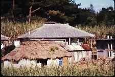 Org Photo Slide 1960's Vietnam war military Base soldier home hut village town