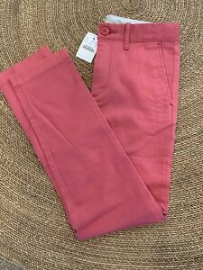 NWT J.crew Crewcuts Washed Red Skinny Pants Size 8