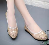 PU leather Mesh Elegant Pointed Toe Breathable Flat Heel Casual Womens Shoes New