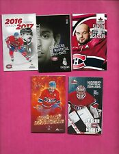 5 X 2000S  MONTREAL CANADIENS POCKET SCHEDULE MINT  (INV# C3349)