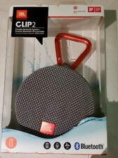 Brand New JBL Clip 2 Waterproof Portable Bluetooth Speaker - GREY
