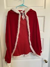 Misses Santa Claus Christmas Cape And Hood Size Large Winter Cindy Lu Who Costum