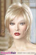 PETITE Cap! Silky Razored Designer Wig Platinum Mix