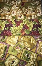 "Quilt, Sew, Fabric Kit Simplicity 44"" x 53""  Napa Valley Wine & Grapes"