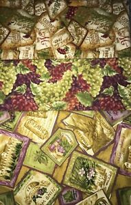 """Quilt, Sew, Fabric Kit Simplicity 44"""" x 53""""  Napa Valley Wine & Grapes"""