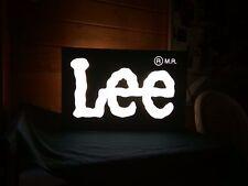 LEE LEUCHT TAFEL REKLAME WERBUNG WAND DEKORATION 49 x 32 x 17 cm