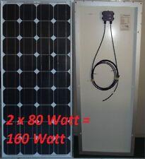 2 x Solarmodul à 80 Watt Solarzelle Solarpanel NEU! TOP!  Monokristallin!